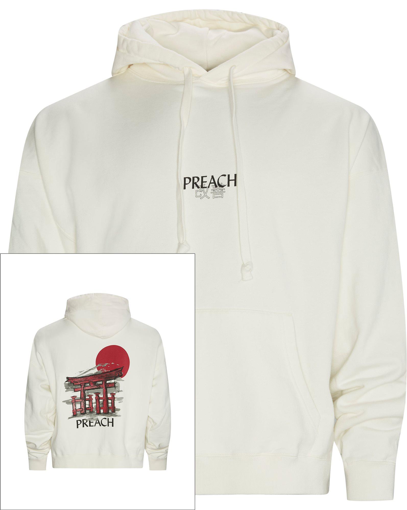 Oversized Rising Sun Hoodie - Sweatshirts - Oversized - Hvid